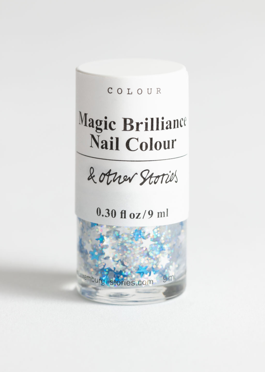 Front image of Stories nail polish in turquoise