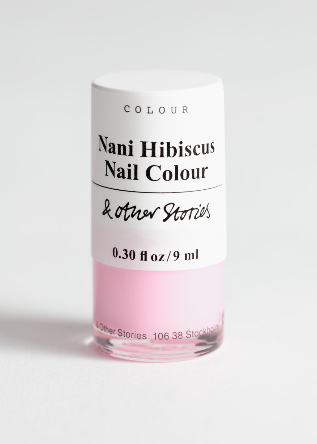 Front image of Stories nailpolish in pink