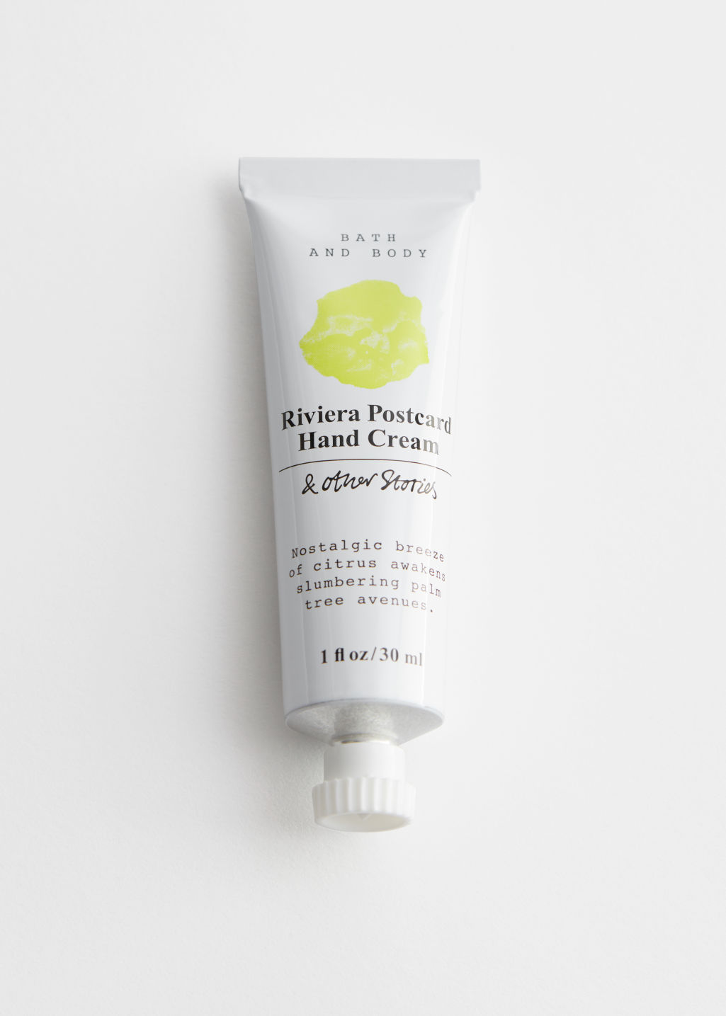 StillLife Front Image of Stories Mini Hand Cream in Yellow