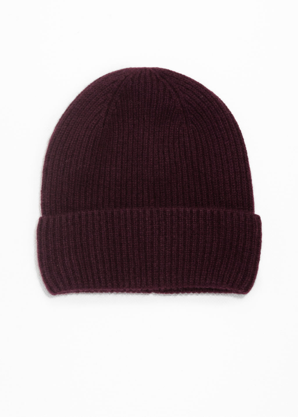 Cashmere Beanie - Burgundy - Beanies -   Other Stories e4bd935ff86