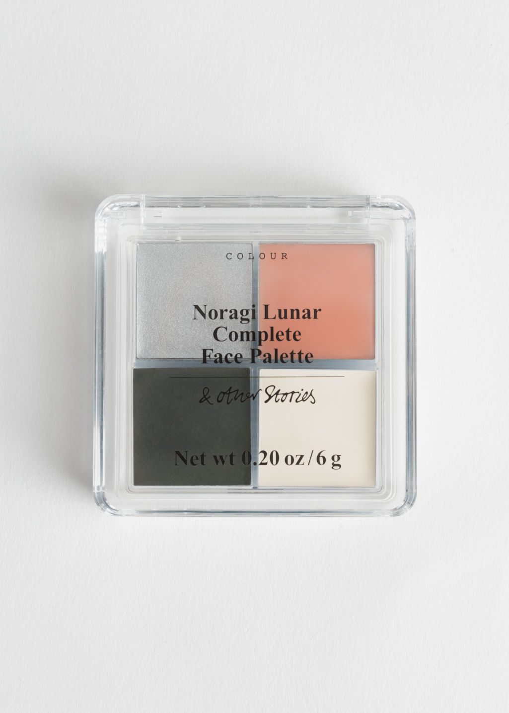 Front image of Stories complete face palette in black