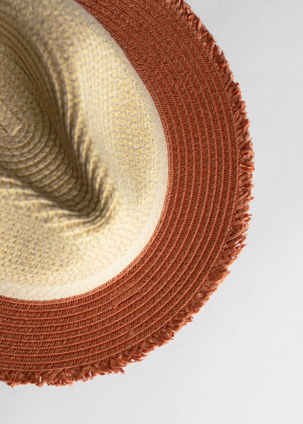 Back image of Stories straw fedora hat in yellow
