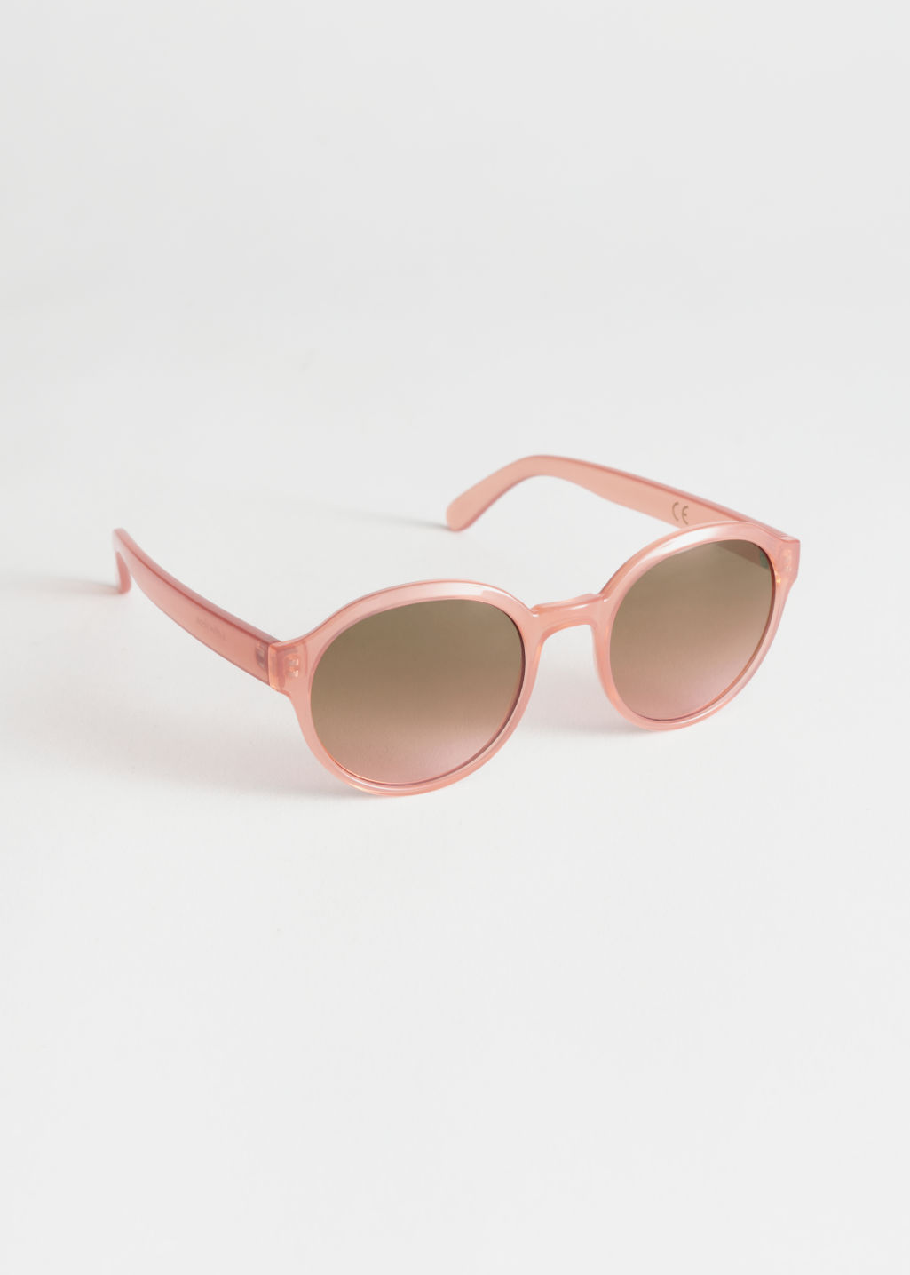 Front image of Stories round frame sunglasses in orange