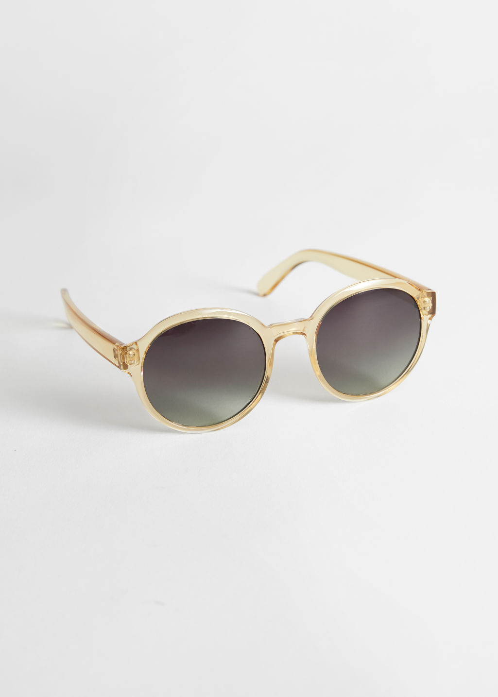 StillLife Front Image of Stories Round Frame Sunglasses in Yellow