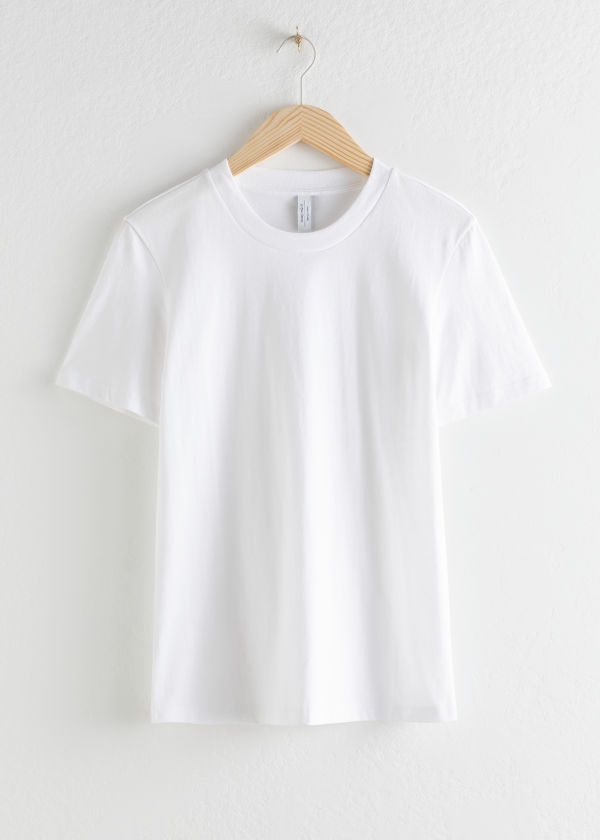 Front image of Stories cotton t-shirt in white