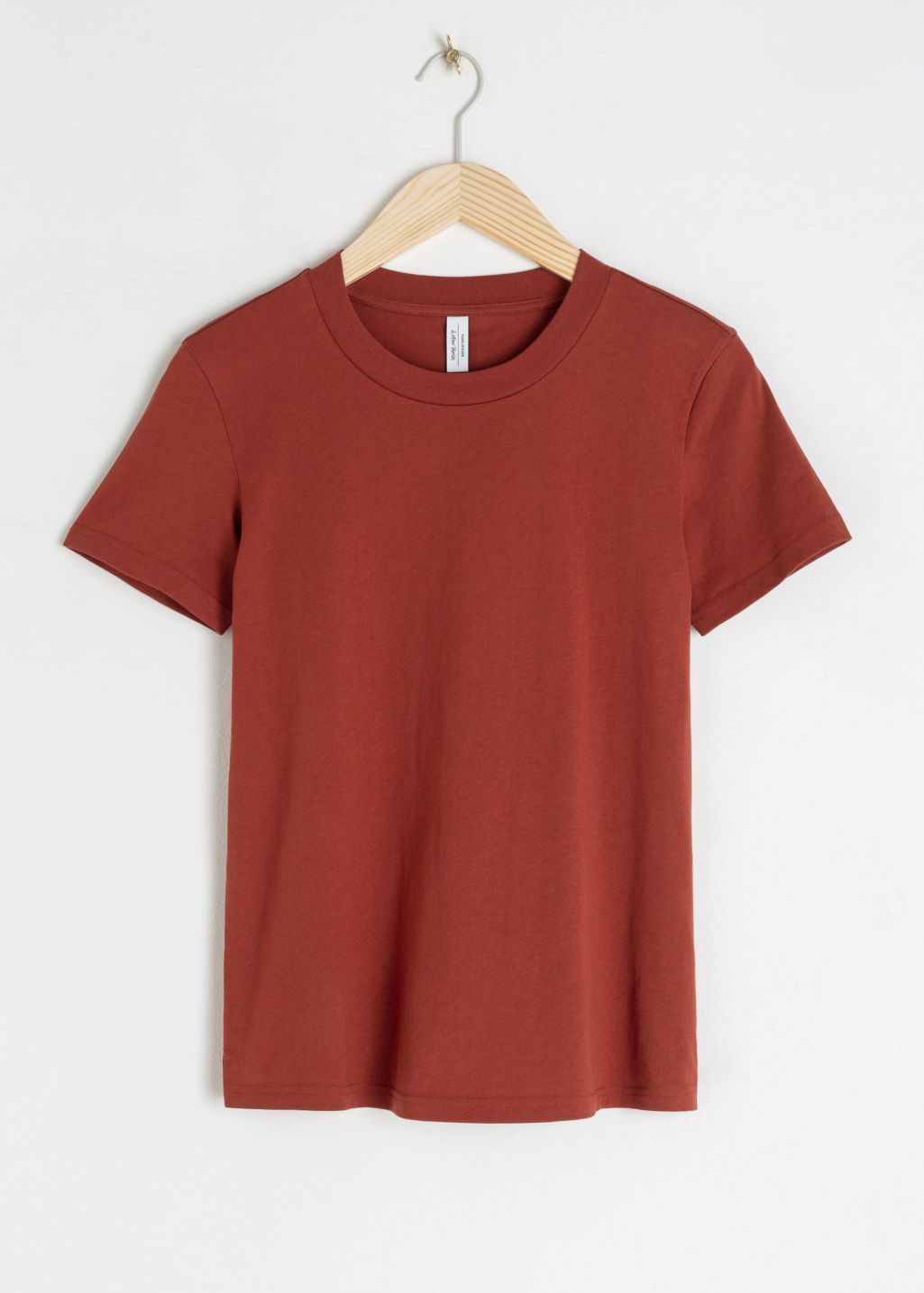 Front image of Stories cotton t-shirt in red