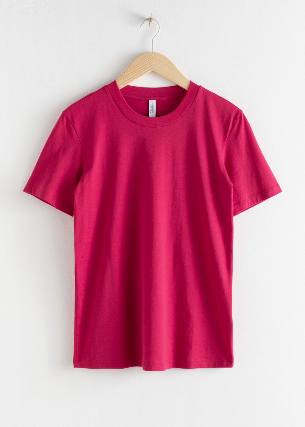 Front image of Stories cotton t-shirt in pink