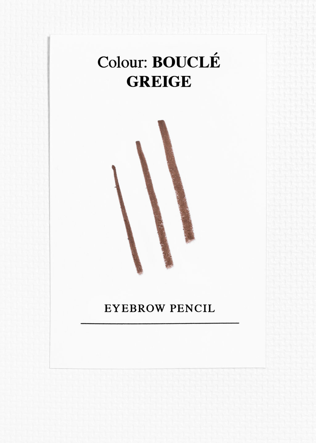 Back image of Stories eyebrow pencil in brown