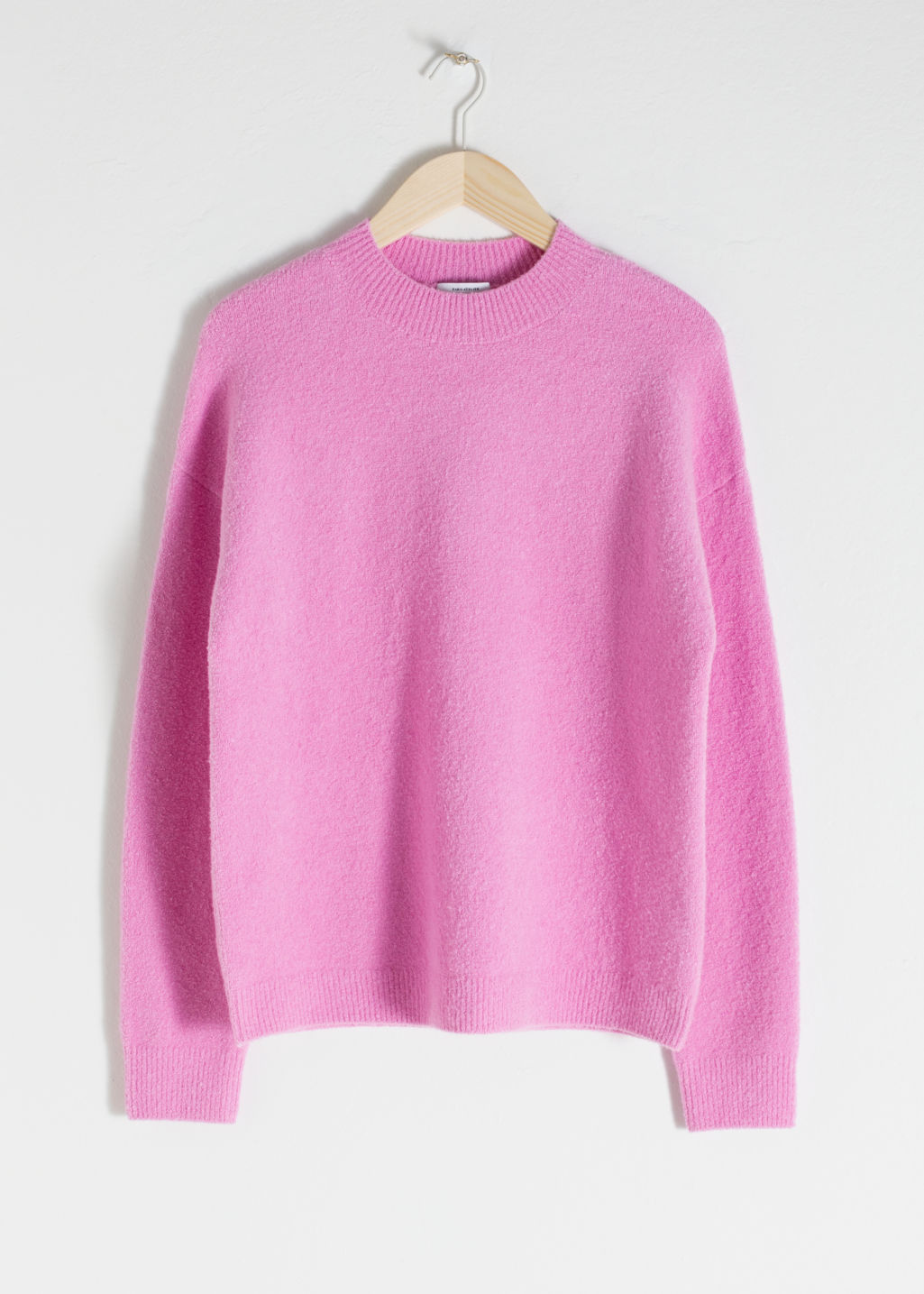 Front image of Stories cotton blend sweater in pink