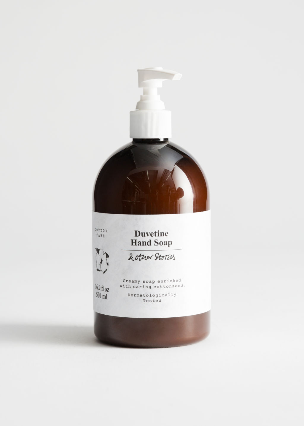 Front image of Stories cotton care hand soap in white