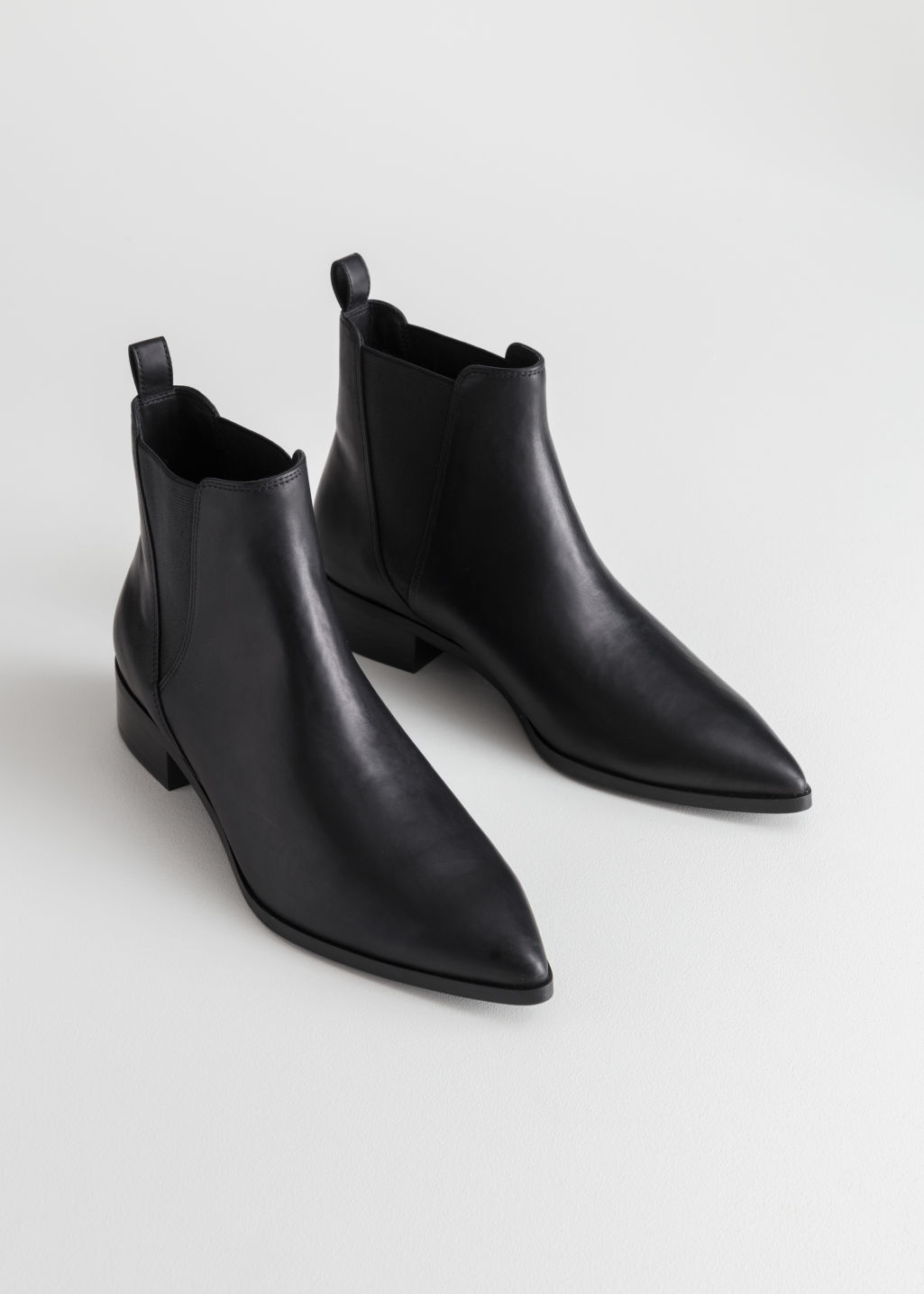 Back image of Stories chelsea boots in black