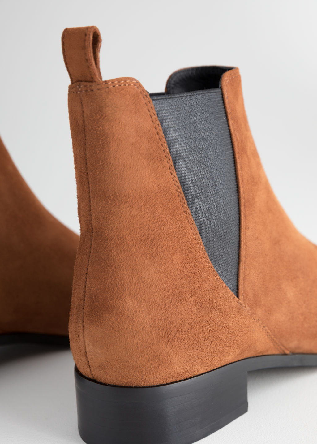 Back image of Stories chelsea boots in orange