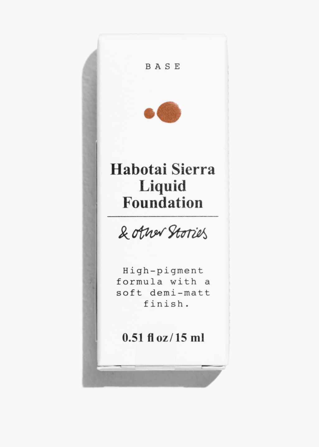 Back image of Stories liquid foundation in orange