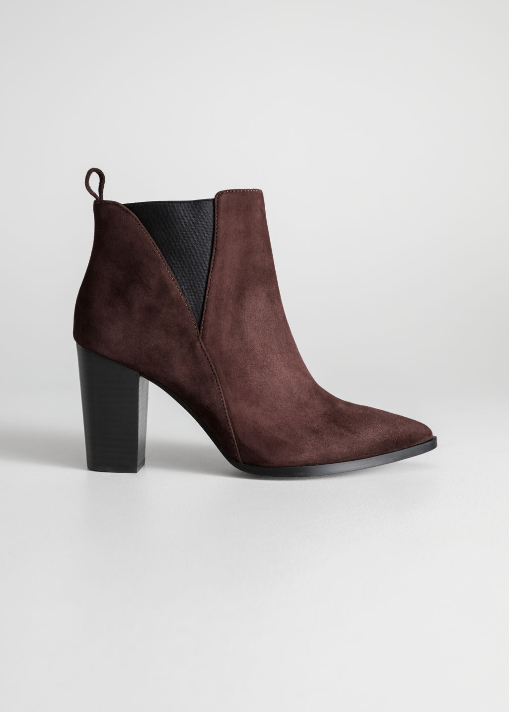 Front image of Stories leather ankle boots  in red