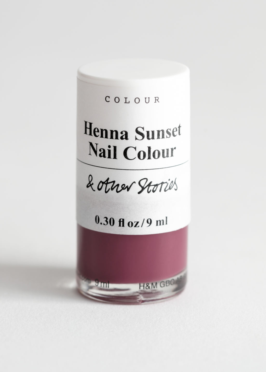 Front image of Stories nail polish  in purple