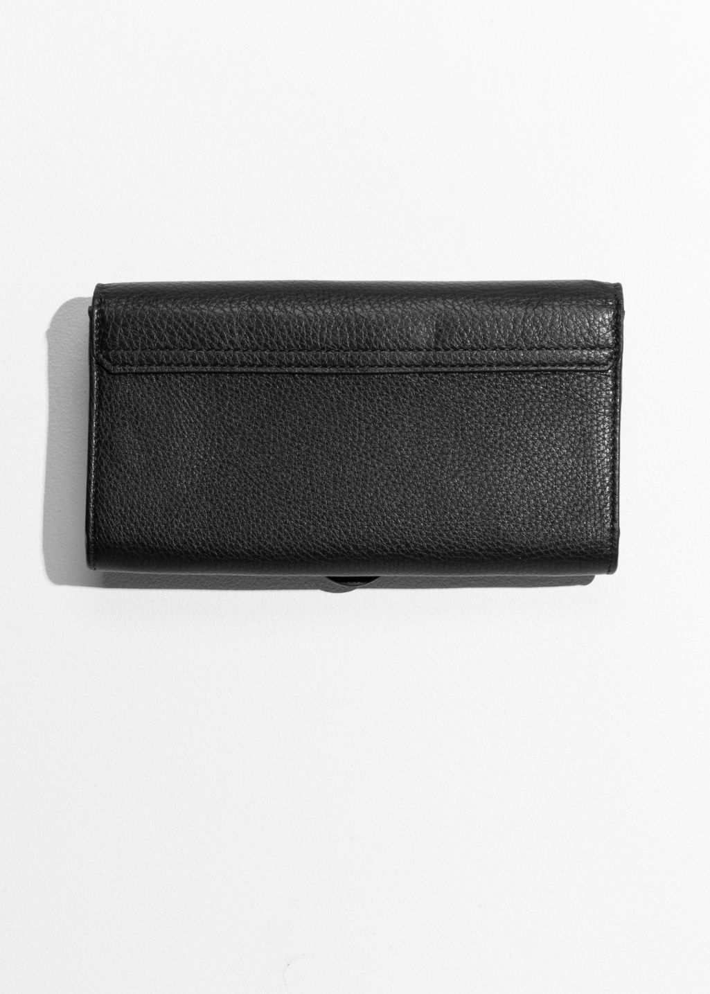 Back image of Stories envelope wallet in black