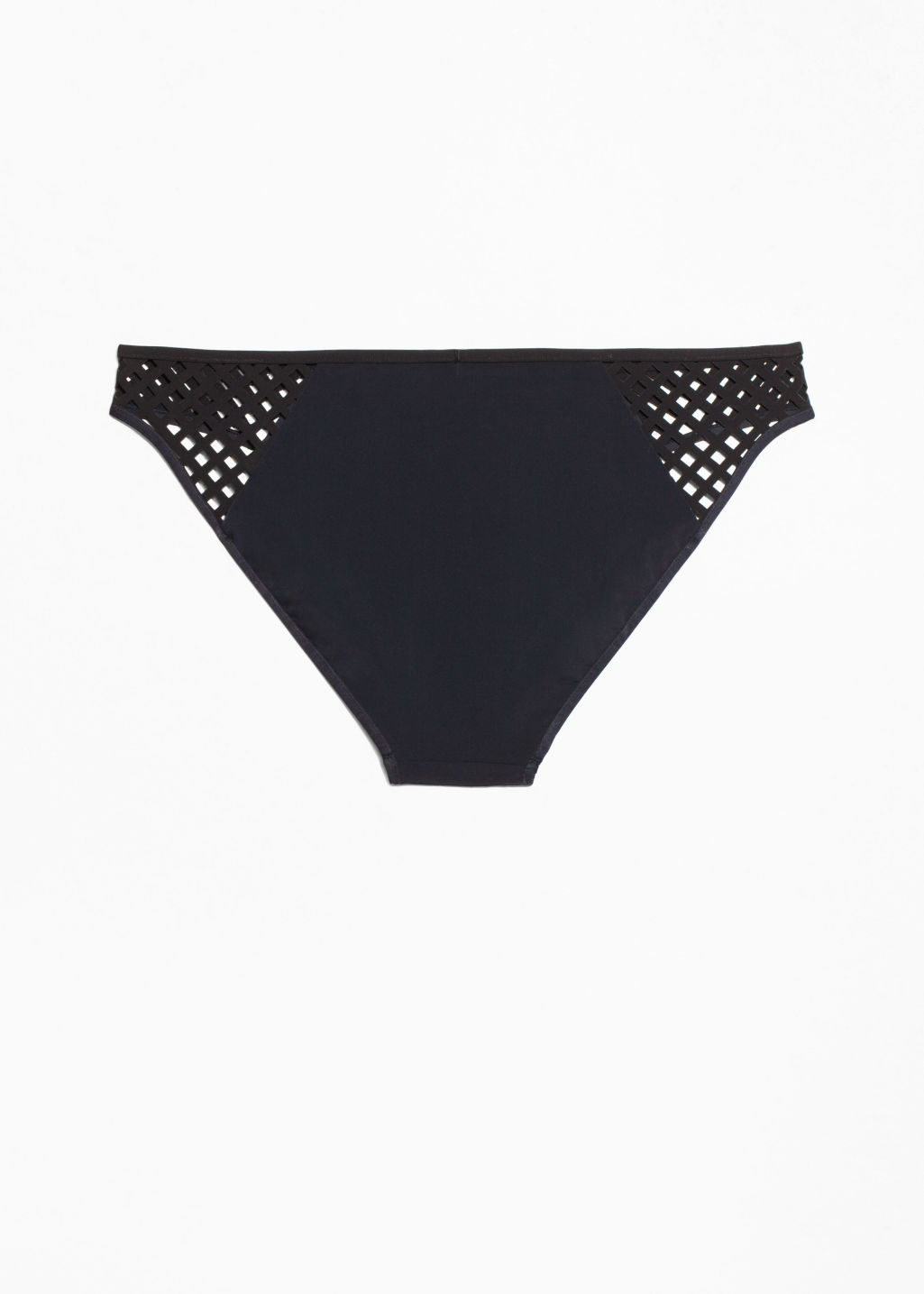 Back image of Stories cut-out bikini briefs in black