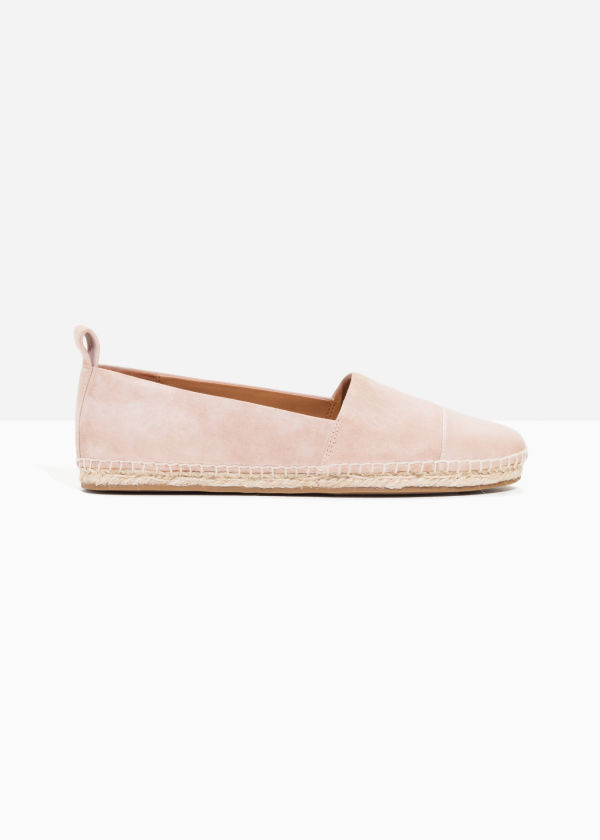 & OTHER STORIES Leather Toe Espadrilles