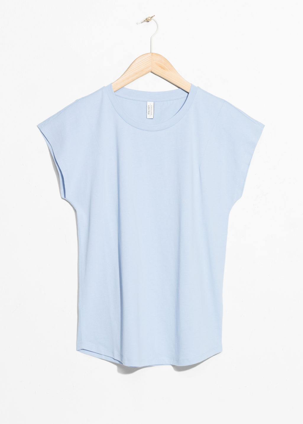 Front image of Stories cotton t-shirt in blue