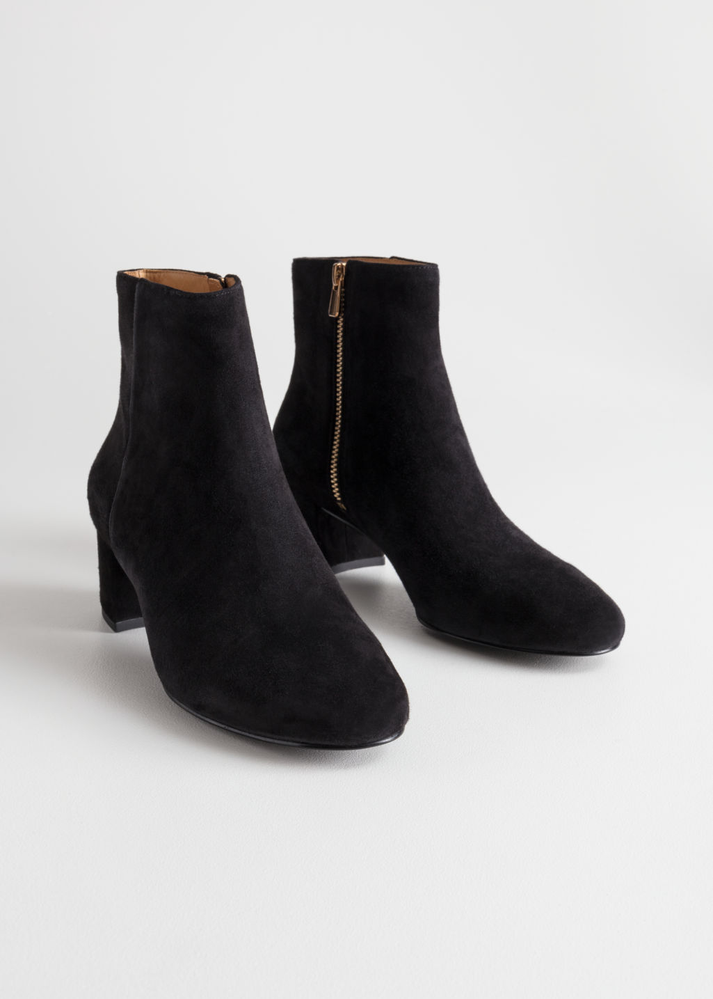 Back image of Stories ankle boots in black