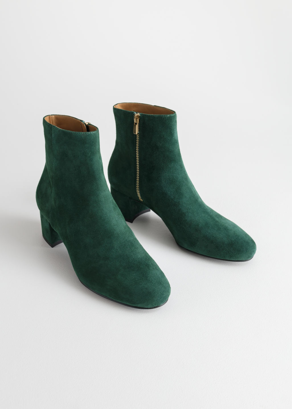 Back image of Stories ankle boots in green