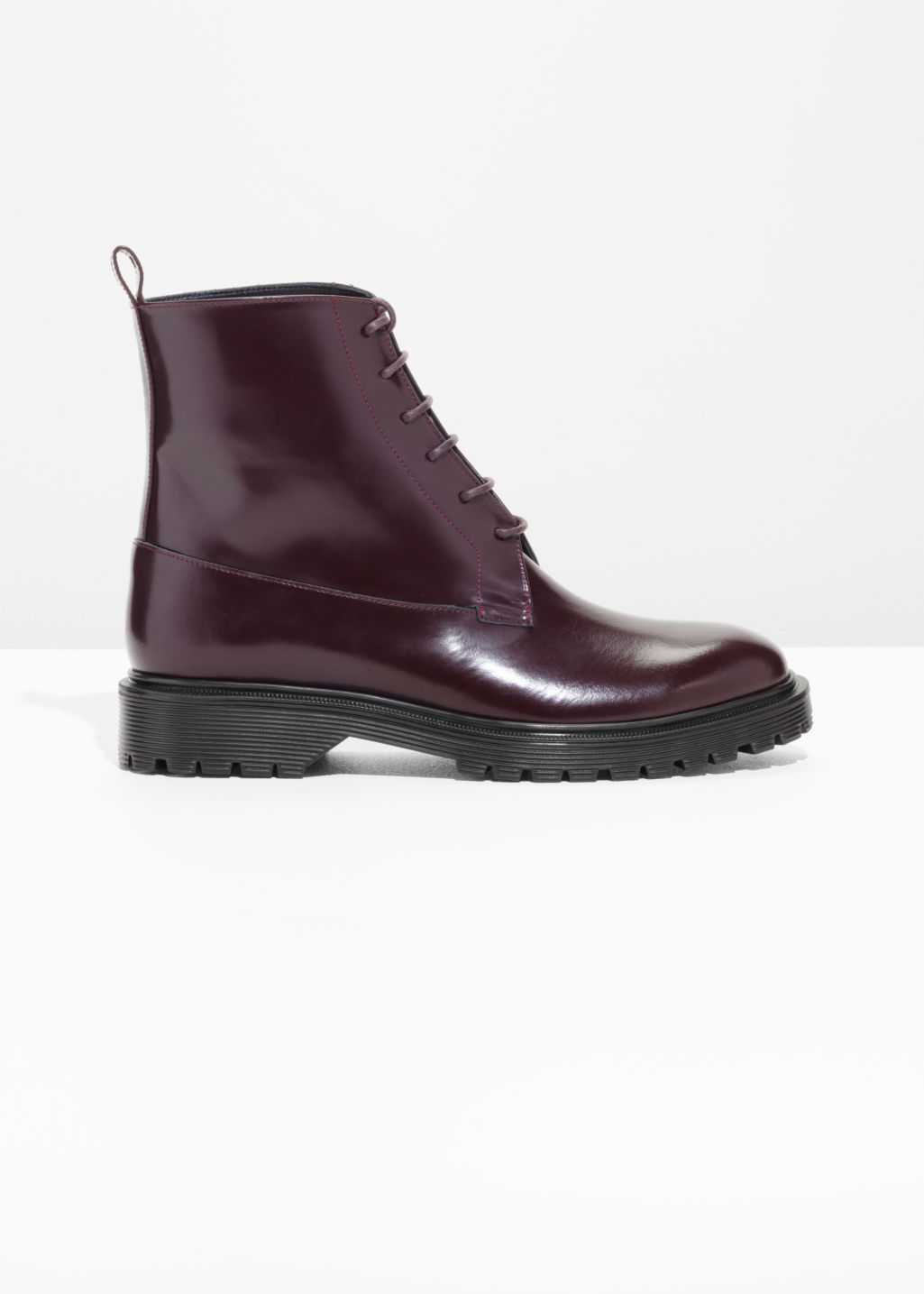 & OTHER STORIES Lace-Up Leather Boots