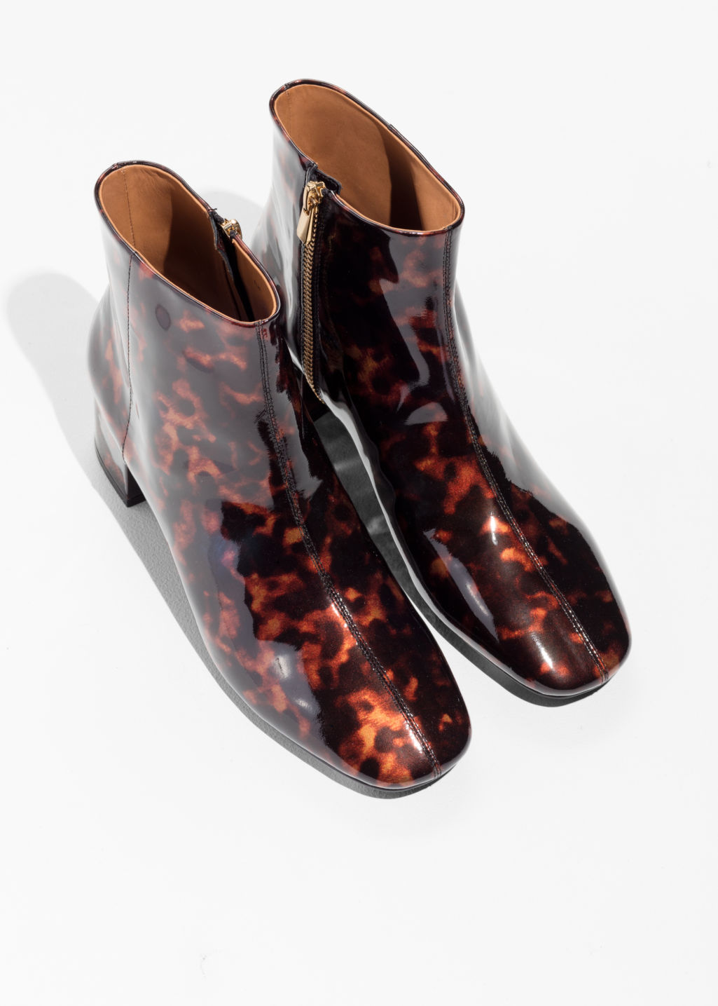 & OTHER STORIES Patent Leather Ankle Boots OGFsjpDL31