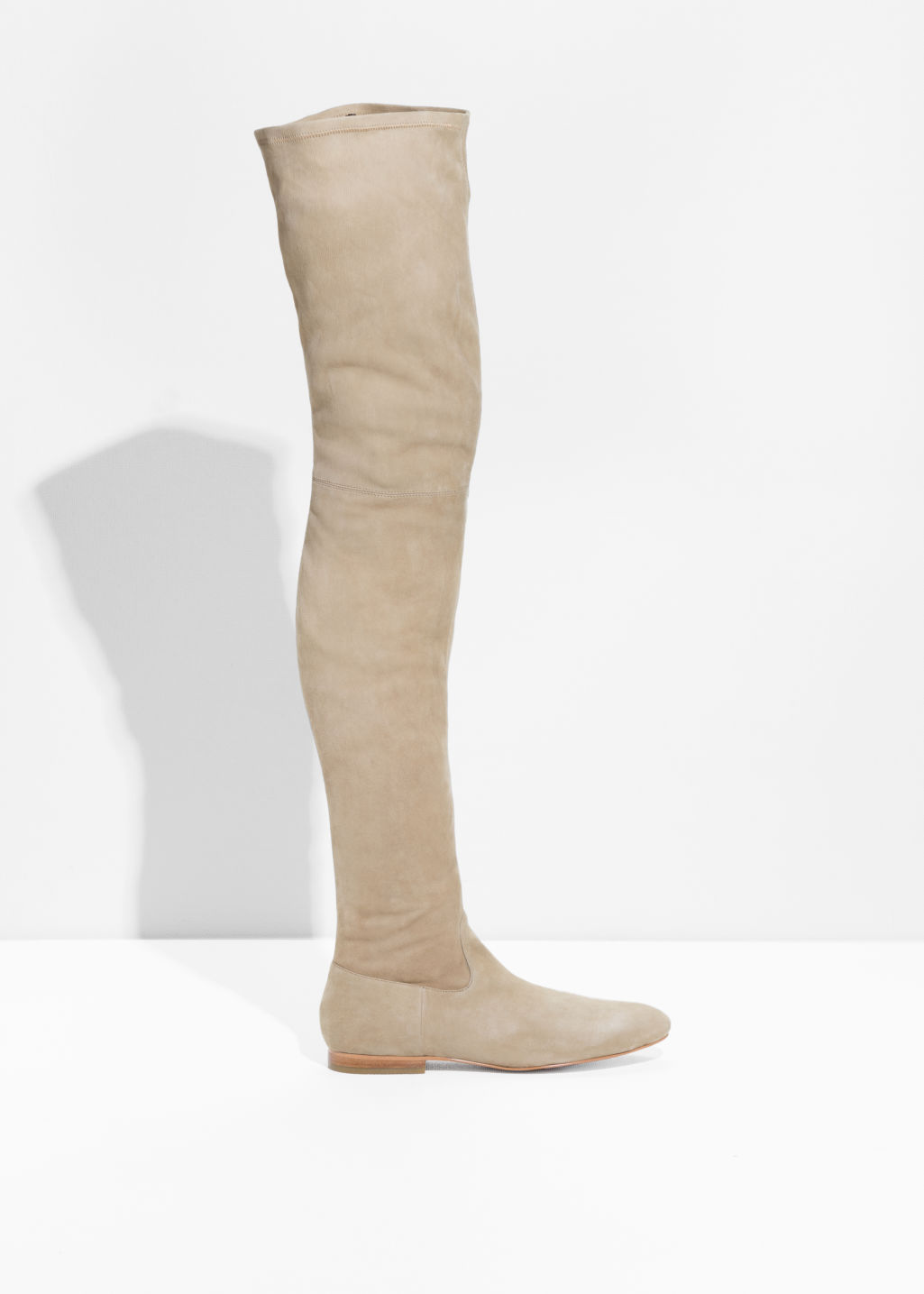 Front image of Stories over the knee stay-up boots in orange