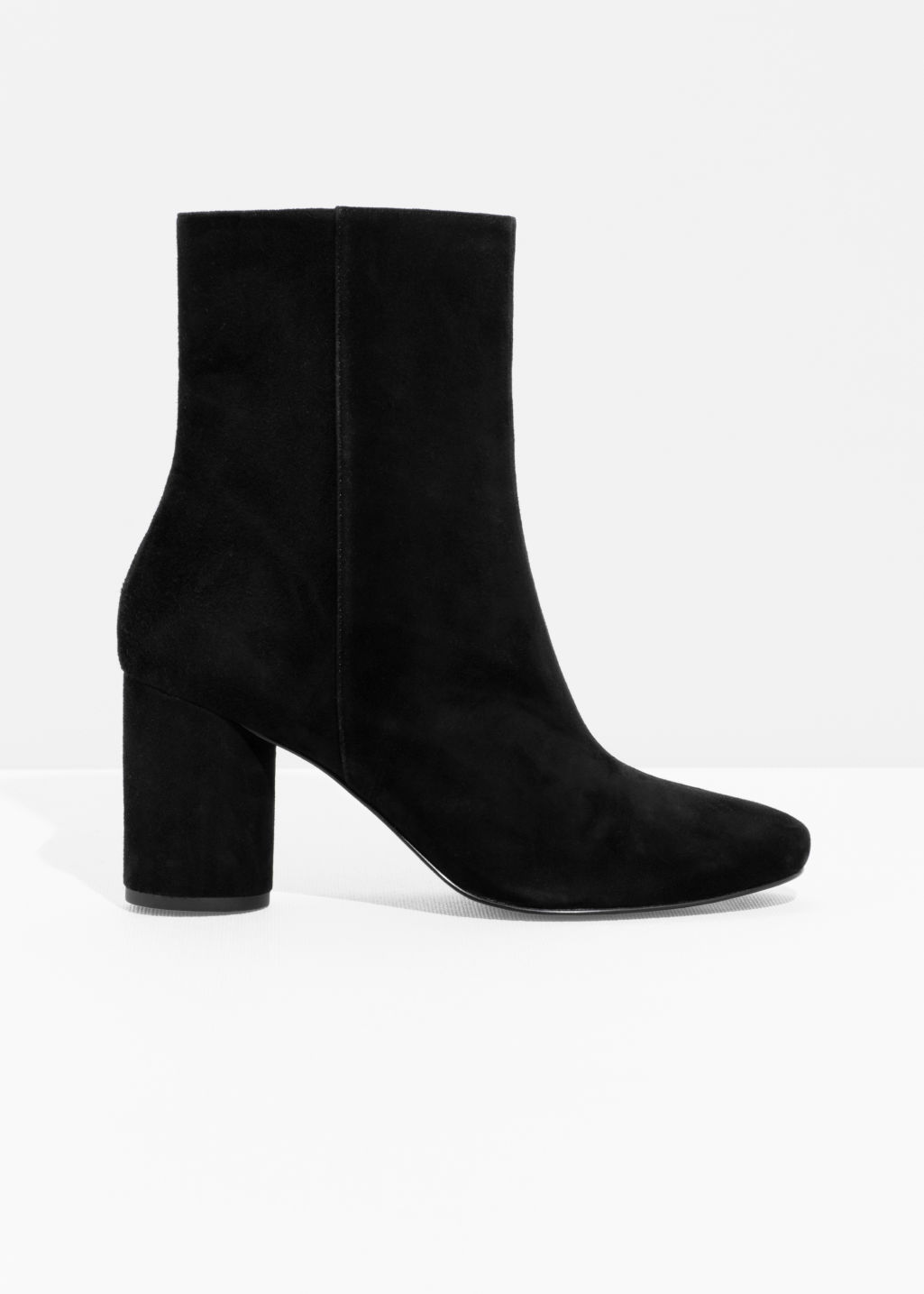 Front image of Stories high shaft ankle boot in black