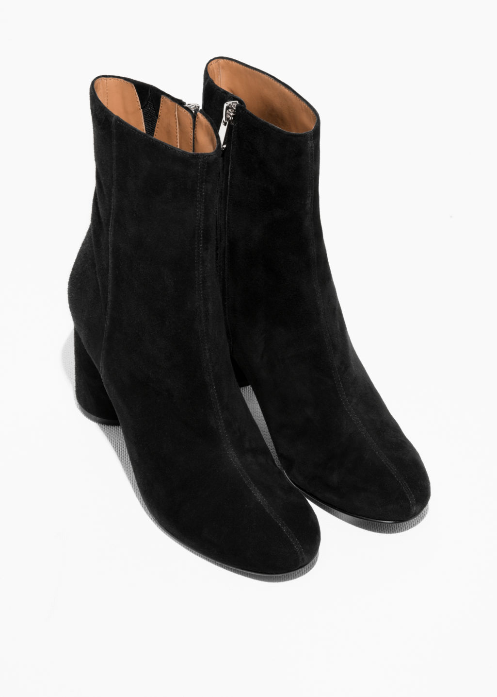 Back image of Stories high shaft ankle boot in black