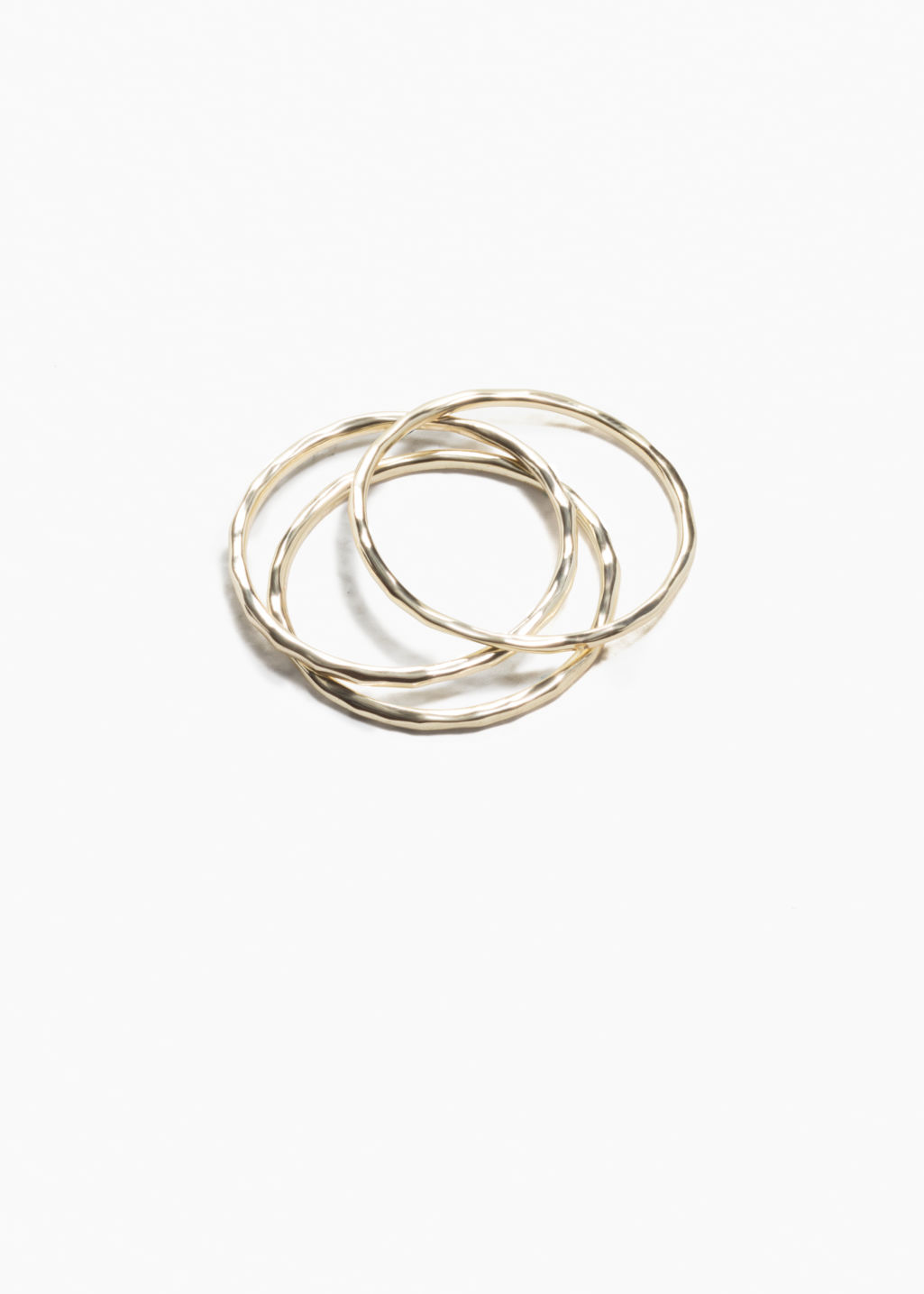 Front image of Stories thin ring set in gold