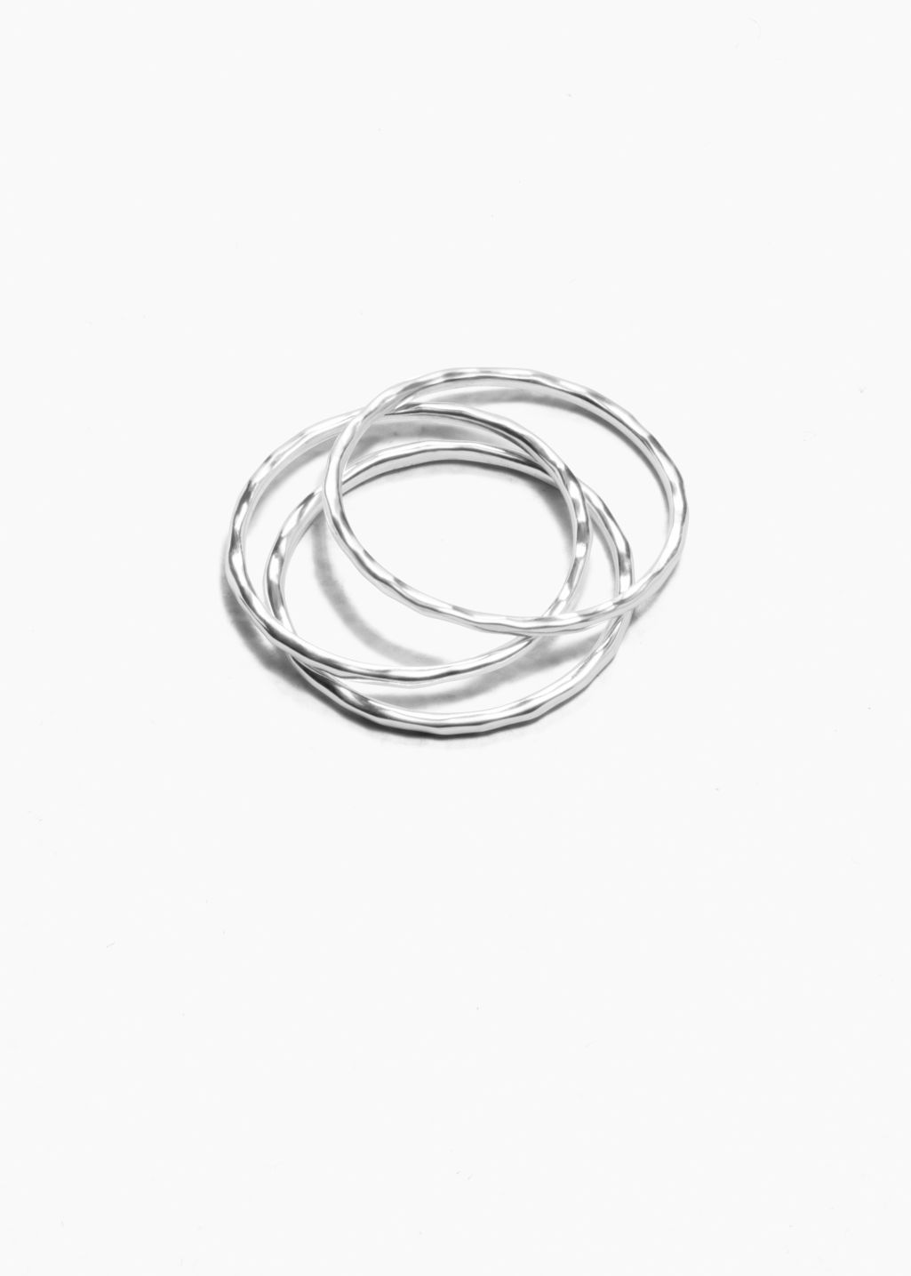 Front image of Stories thin ring set in silver