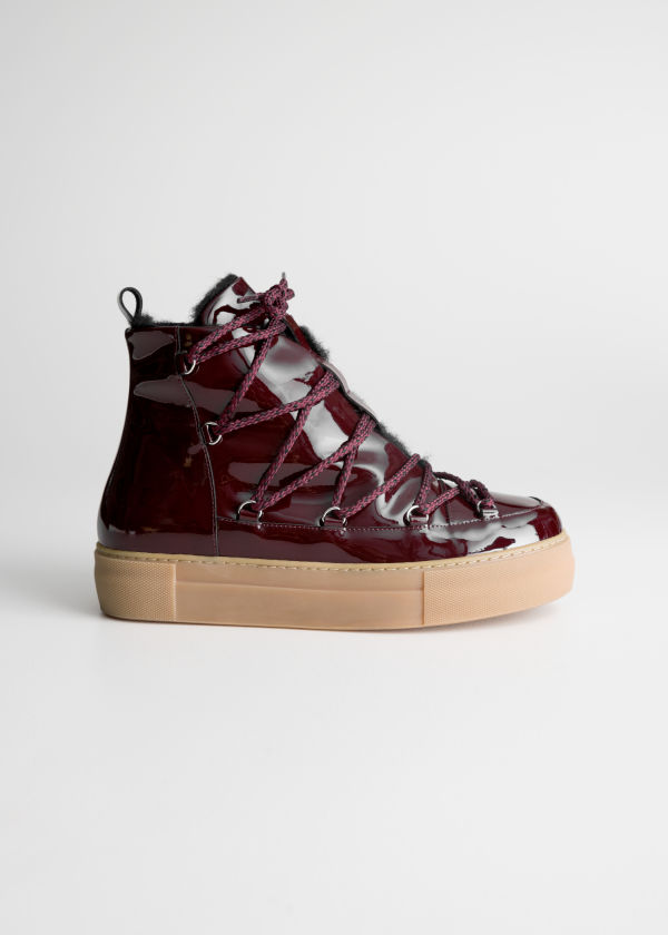 Patent Leather Snow Boots
