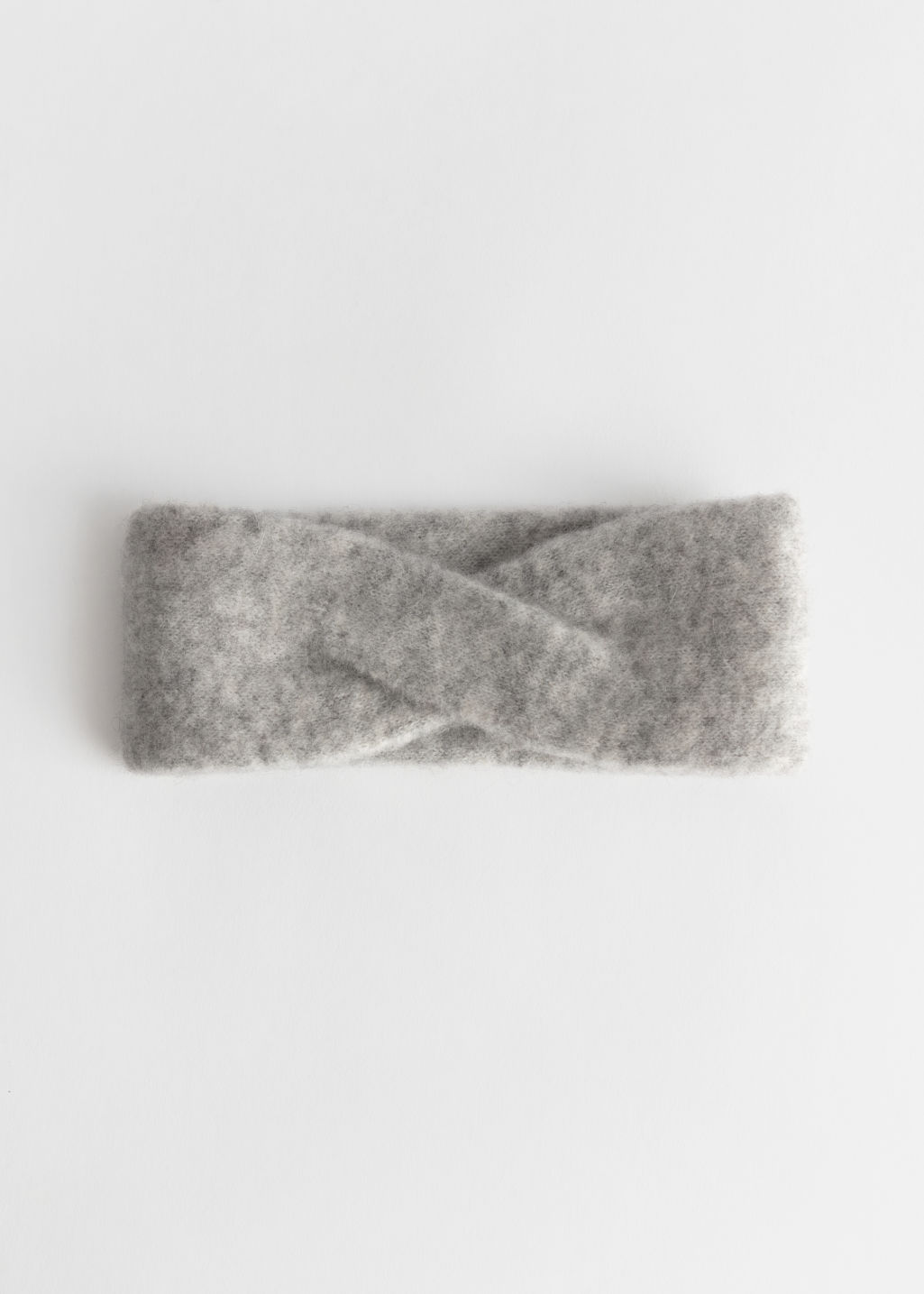 Front image of Stories merino wool headband in silver