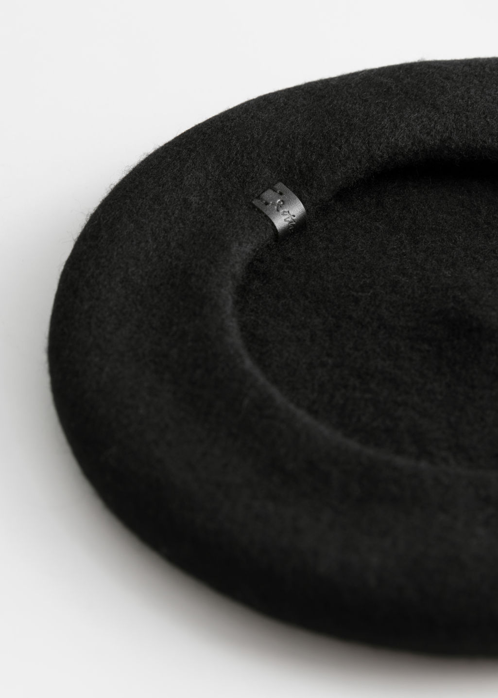 Back image of Stories wool beret  in black