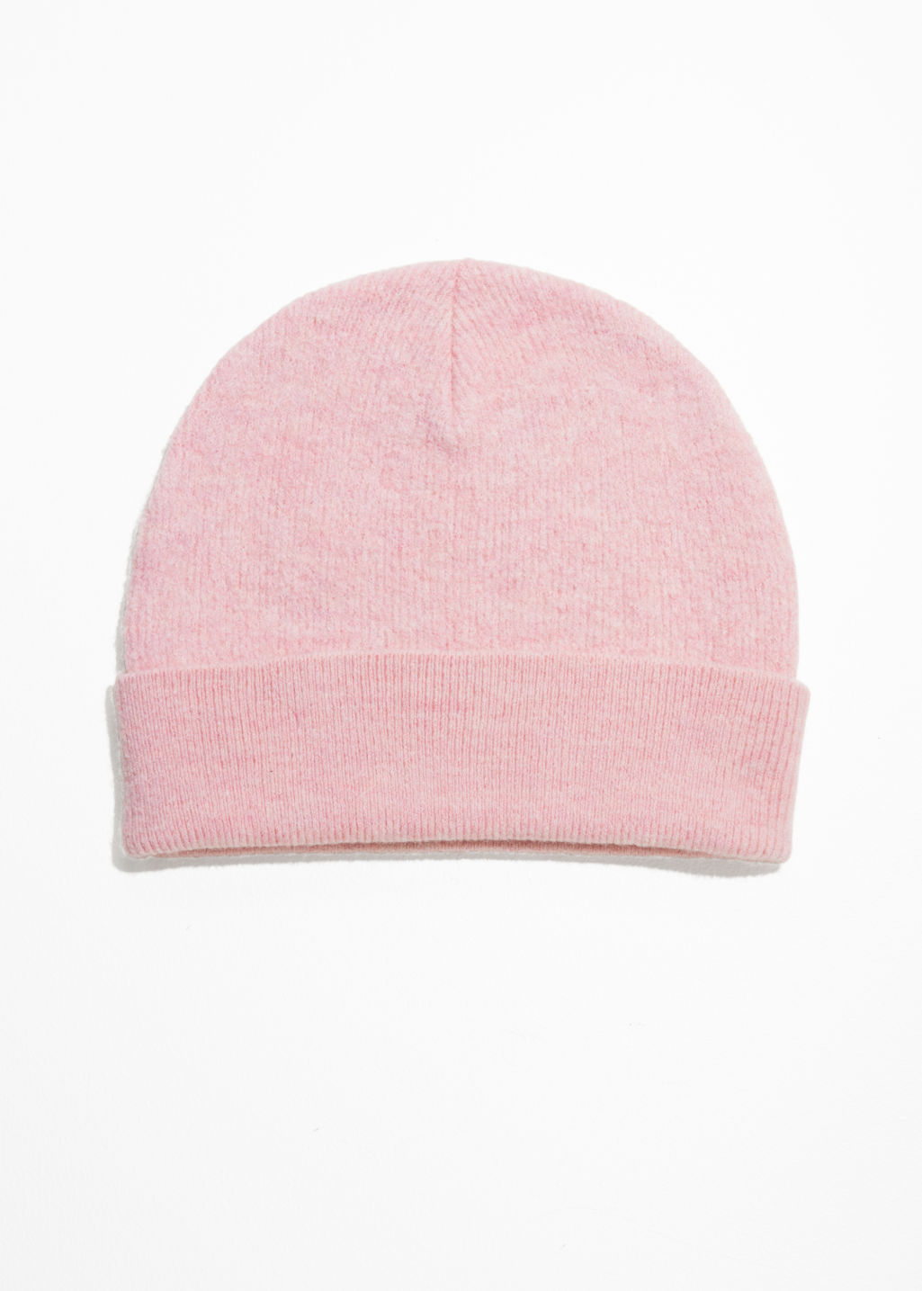 Front image of Stories wool beanie in pink