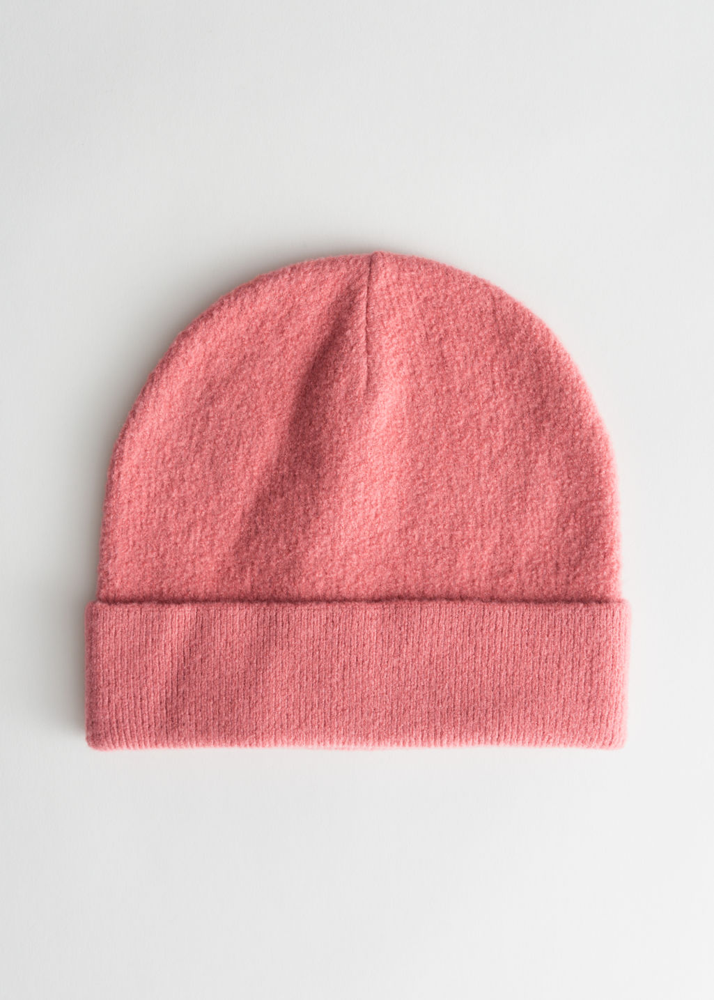 Front image of Stories wool beanie in red