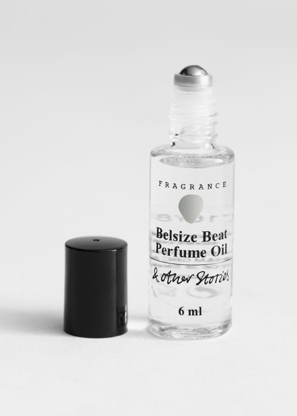 Front image of Stories roll on perfume in beige