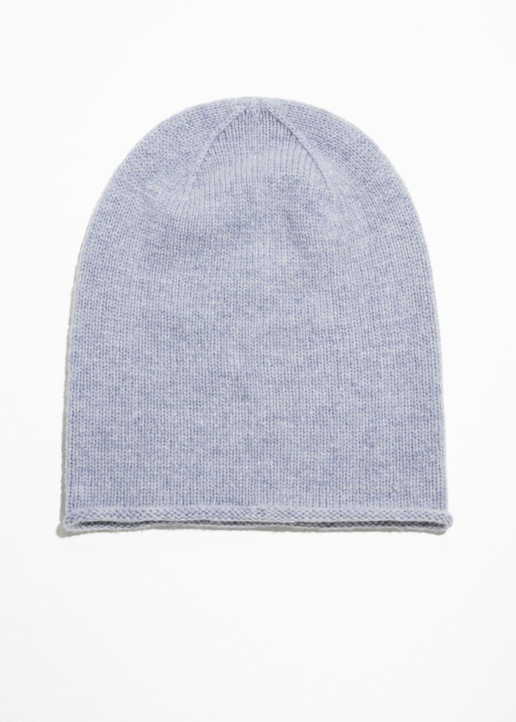 Front image of Stories wool mix beanie in blue