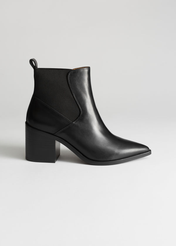 Chunky Chelsea Leather Boots