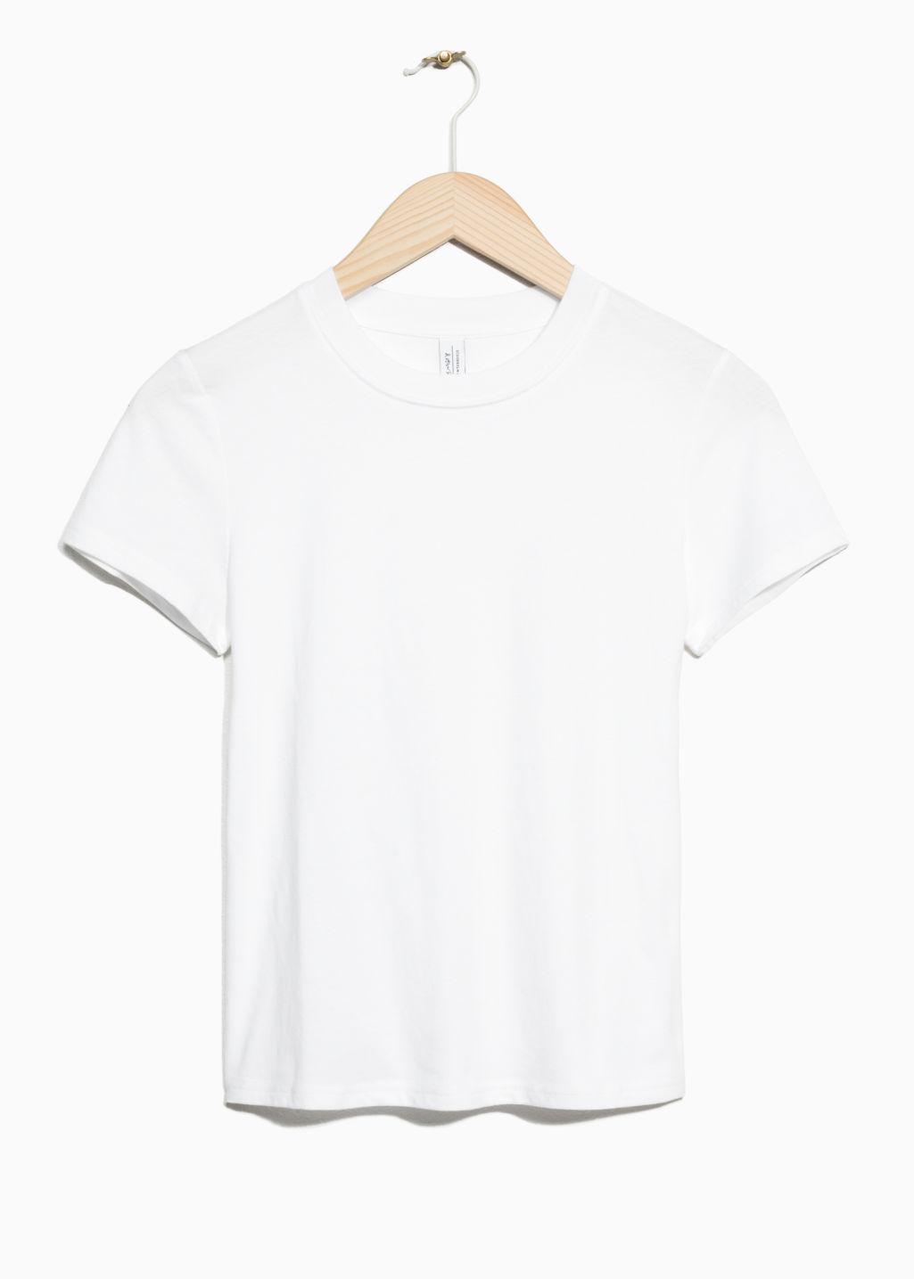 Front image of Stories cotton jersey t-shirt in white