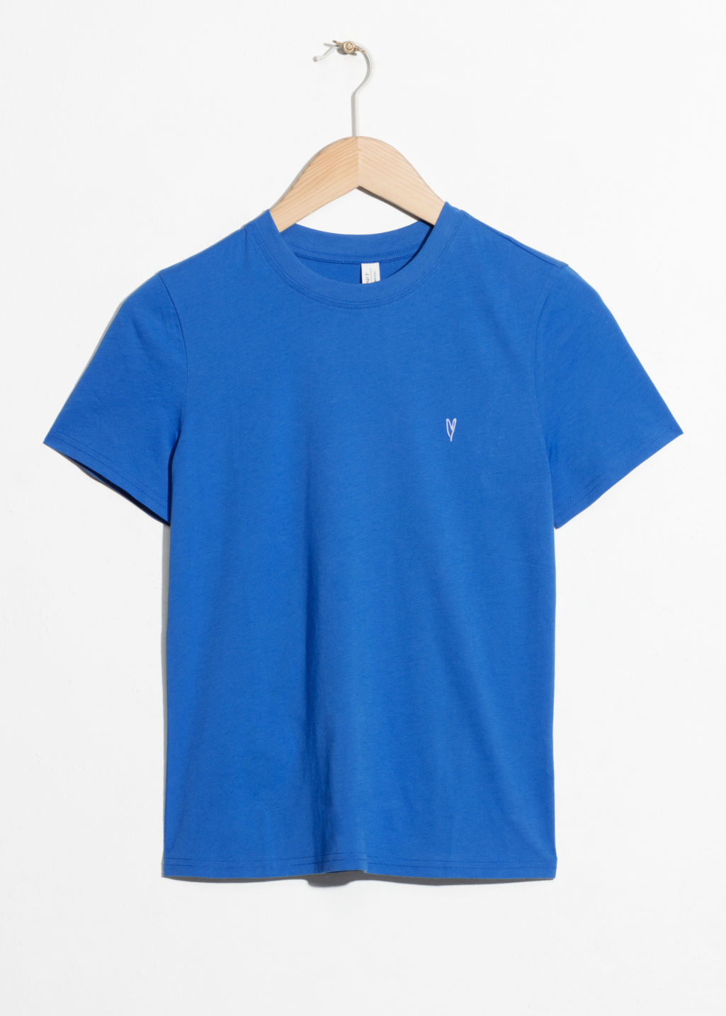 Front image of Stories cotton jersey t-shirt in blue