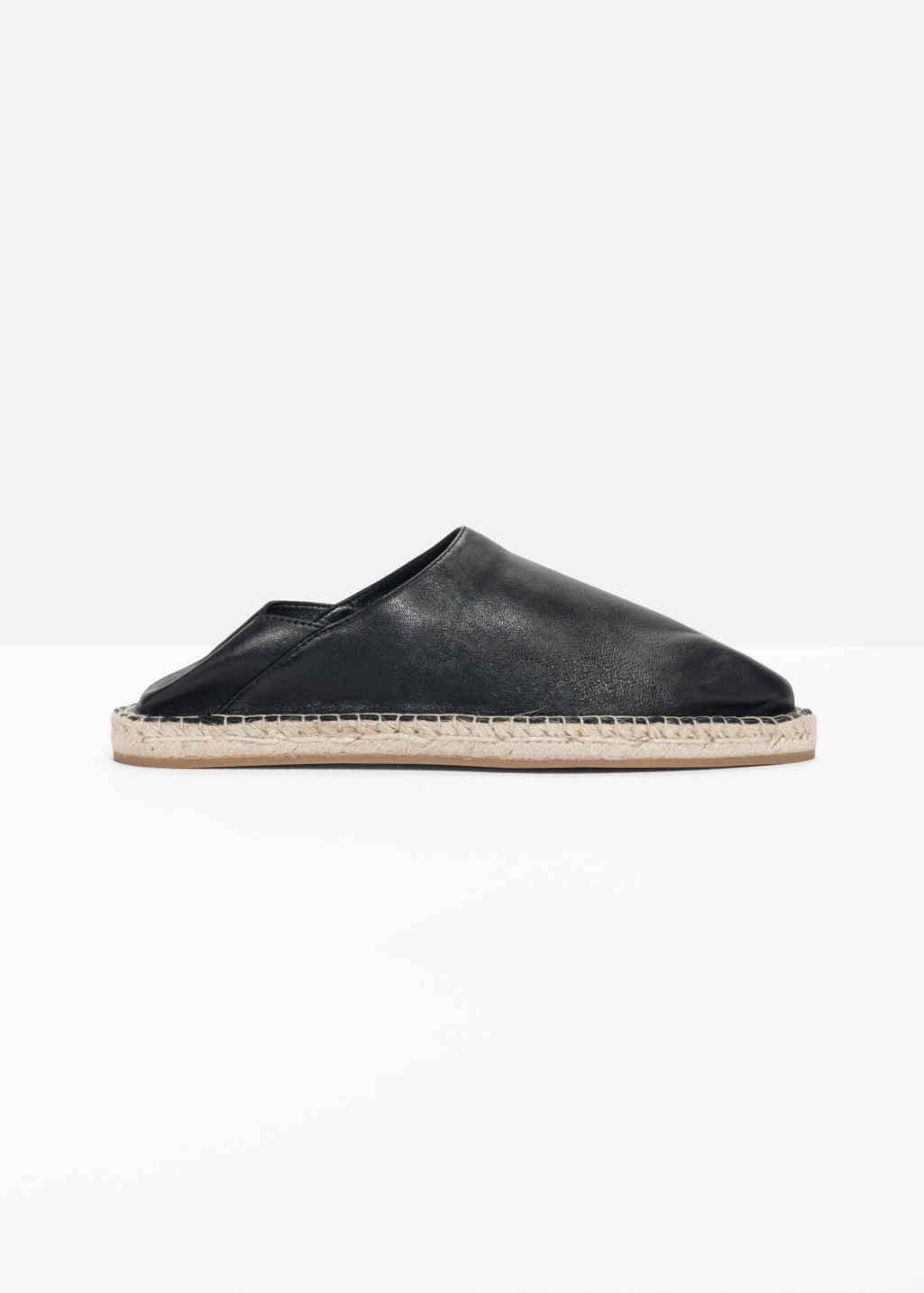 Front image of Stories espadrille slip-in  in black