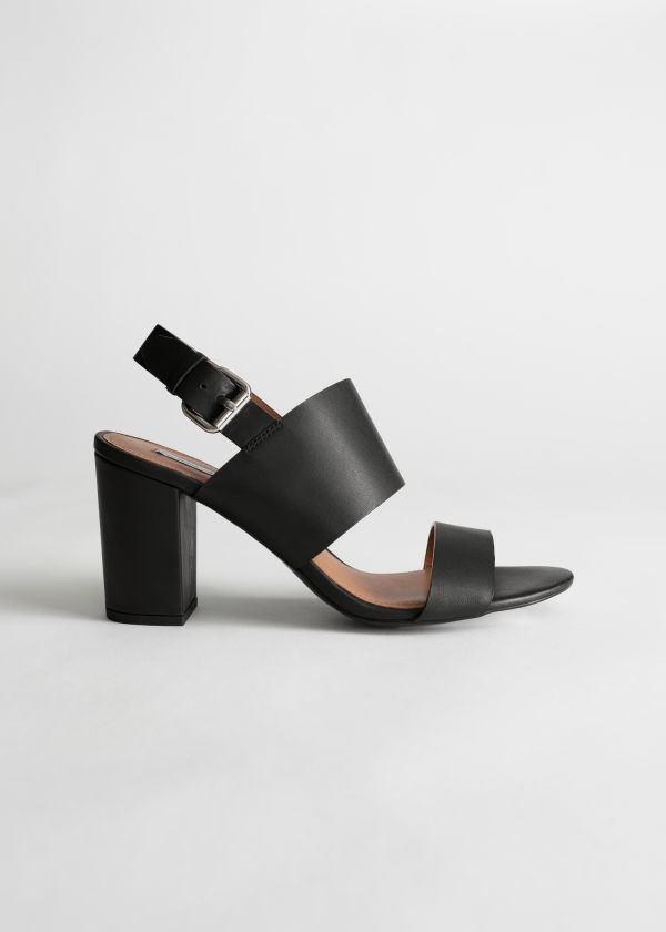 Heel Strap Leather Sandals
