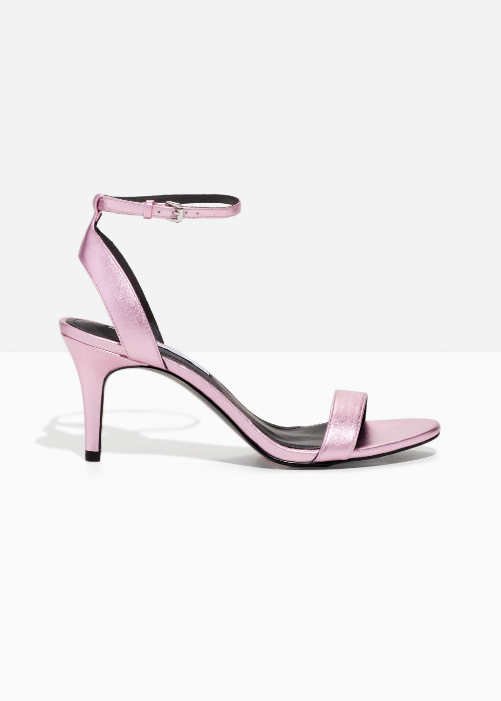 Front image of Stories two-strap sandalette in pink