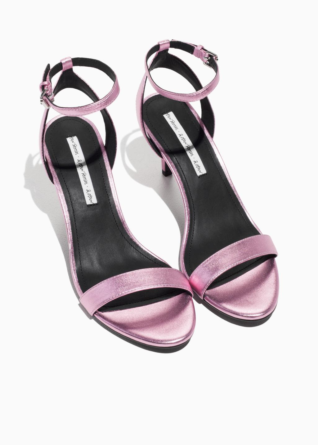 Back image of Stories two-strap sandalette in pink