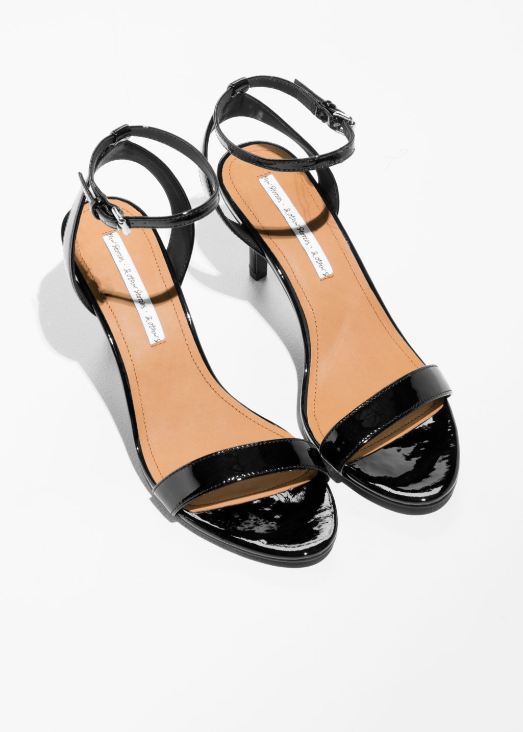 Back image of Stories two-strap sandalette in black