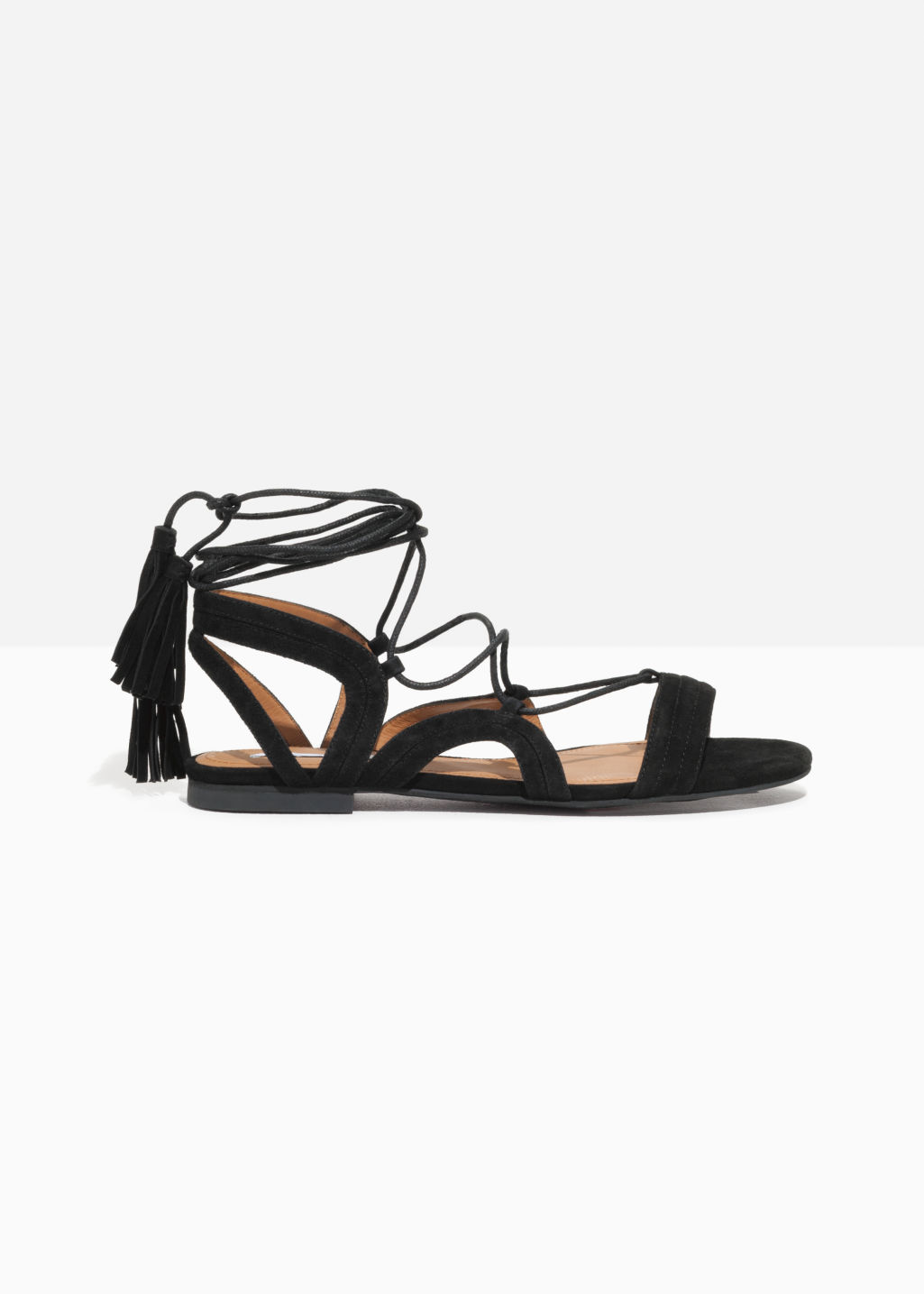& OTHER STORIES Suede Lace Up Tassel Sandal mhNxX