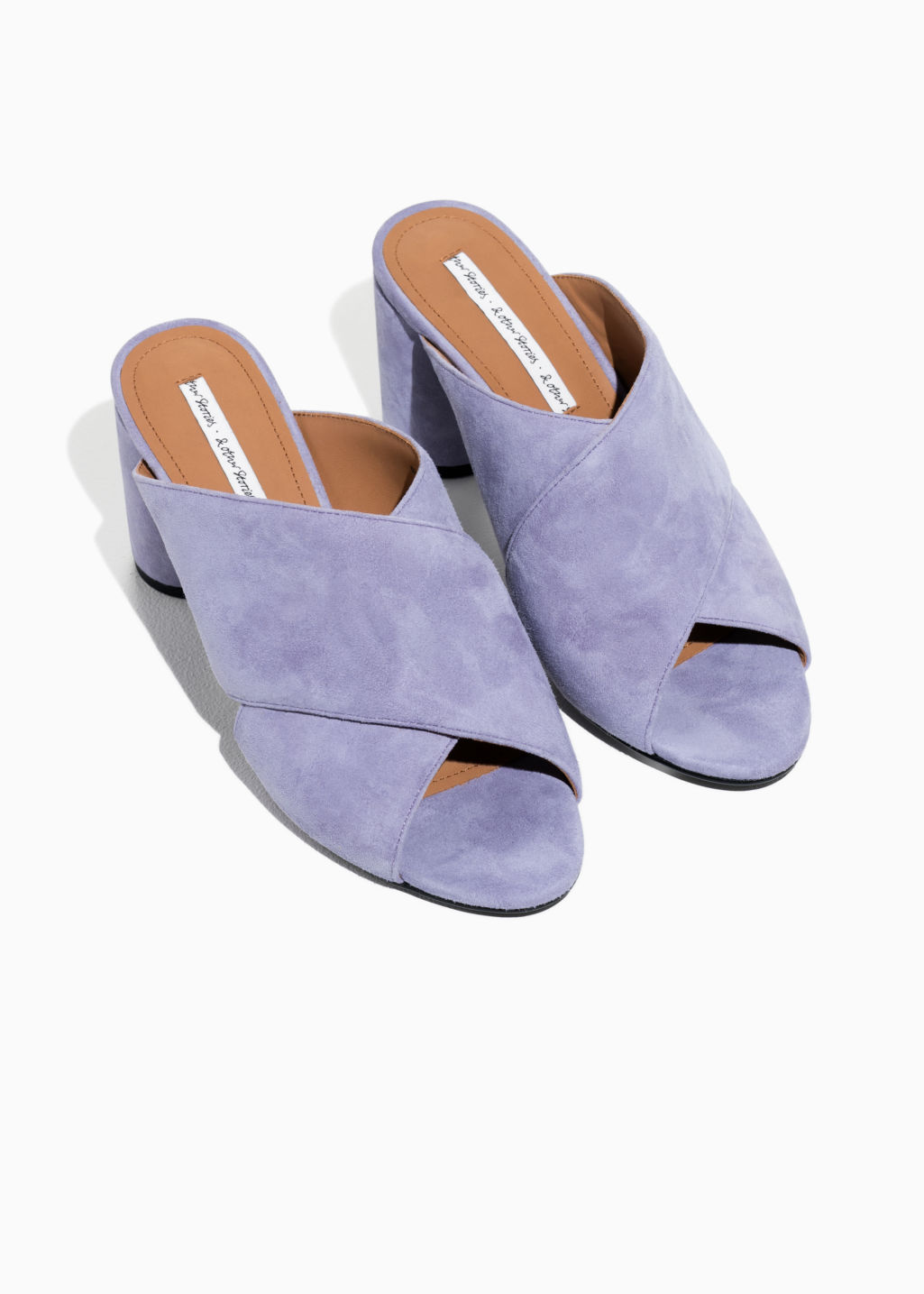 & OTHER STORIES Suede Cross Strap Mules EVF9niERaT
