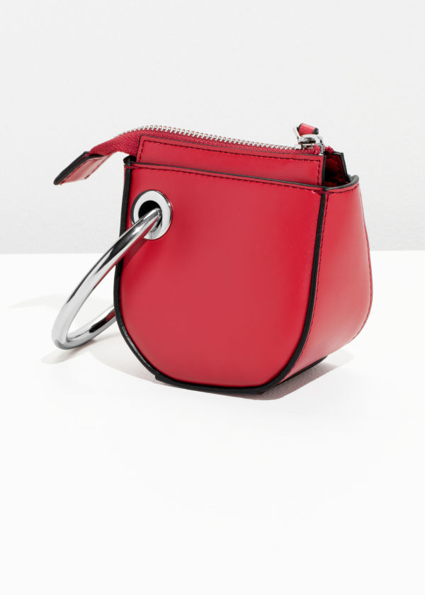 Leather Saddle Clutch